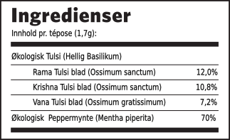 Tulsi peppermynte ingredienser